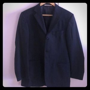 Burberry suit jacket, navy blue sled stripe
